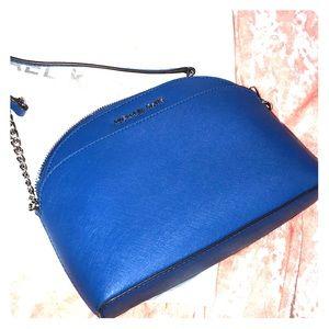 Michael Kors blue crossbody purse